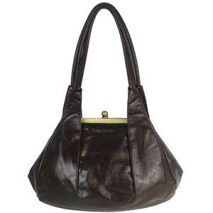 HOBO BONNIE Leather Shoulder Bag VTG Mogano Brown